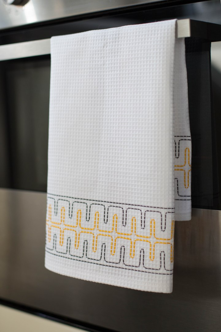 Making a simple waffle fabric towel