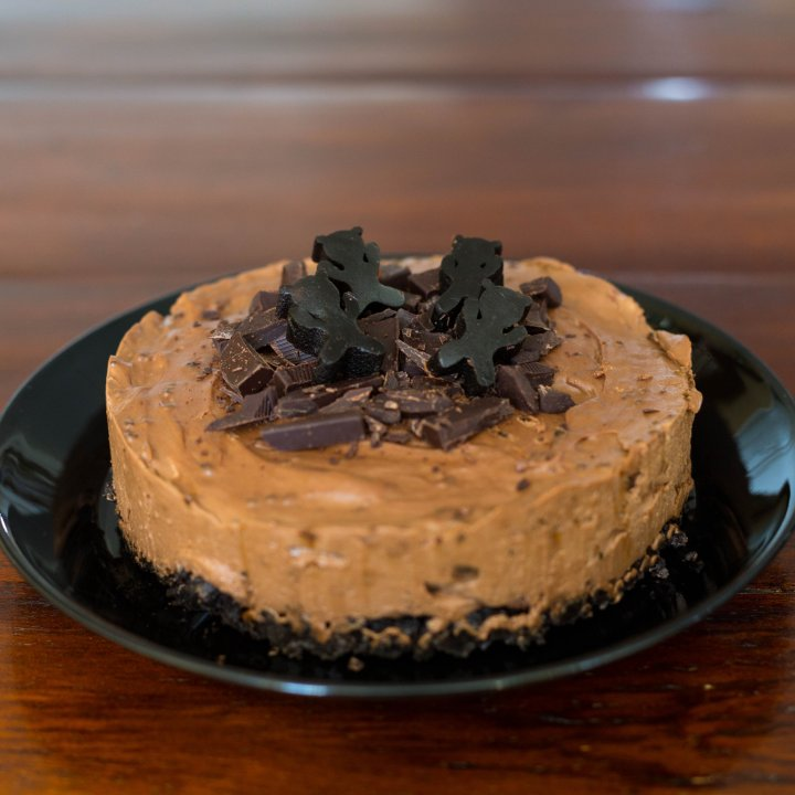 Liquorice-chocolate cheesecake